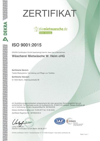 ISO-Zertifikat 2014